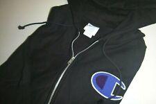 champion mens soft knit cotton full zip hoodie sweatshirt sz: Large color: black
