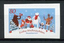 Germany Christmas Stamps 2019 MNH Santa Trees Bears Foxes Reindeer 1v S/A Set