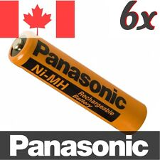 6 Pcs Panasonic NiMH AAA Rechargeable Battery for Cordless Phone. HHR-75AAAB