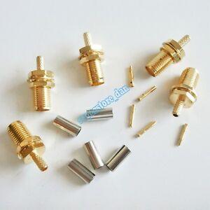 10X SMA female nut crimp RG174 RG316 LMR100 RF Coax Cable connector