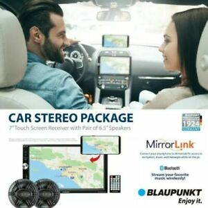 "Blaupunkt Baltimore 7"" Touch Screen Receiver  Pair of 6.5"" Speaker Car Stereo"