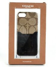 Auth Coach Signature Logo Brown iPhone 5/ 5S case with card pocket