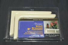 "Vintage John Sterling Corp Designer Series 8"" Shelf Bracket Kit Beige NIP!"