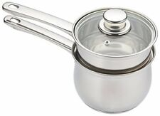 KitchenCraft Induction-Safe Stainless Steel Double Boiler Porringer  Bain-Marie