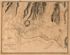 Honolulu Hawaii c1887 map 30x24