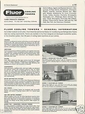 1961 FLUOR PRODUCTS Cooling Towers with ASBESTOS Panels Vintage Catalog Page