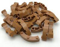 Lego 25 New Medium Dark Flesh Bricks Round Corner 4 x 4 Macaroni Wide 3 Studs