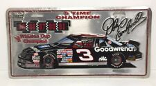 Dale Earnhardt License Plate Vintage 5 Time Champion