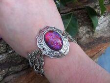 Fire Opal Bracelet Hearts Bracelet Victorian Dragon's Breath  Fall gift Sale