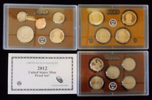 2012-S  Proof Set 14 piece set  with COA      OGP                      #MF-T2201