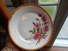 Antique Haviland Limoges France Handpainted Plate Dish Floral Heavy Gold Rim #3