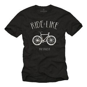 Cooles Fahrrad Herren T-Shirt mit Fixie - Männer Rennrad Biker Fahrradtrikot