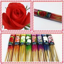 "50x8"" Rose Incense Sticks Red Aroma Spa Cone Fragrance  Diffeuser Gift"