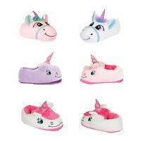 Nifty Kids 3D Magical Unicorn Slippers Girls Novelty Animal Soft Footwear