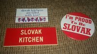 Czeko-Slovak Republic Czechoslovakia Country Pin Pinback Button & magnet lot