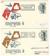Repubblica Italiana : FDC Venetia Club : n° 217 : Elicottero ambulante : 2 buste
