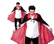 Halloween Réversible Cape Satin Haut Col Déguisement Vampire Costume 115 cm