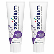 Zendium Gentle Whitening Toothpaste with Natural Antibacterial Enzymes 2x75ml