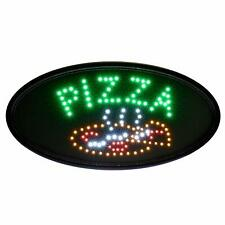 Alpine Industries Multi Color Oval Flashing LED Business Cafe Pizza Sign 19 x 10