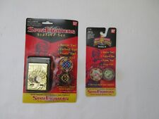 1993 MIGHTY MORPHIN POWER RANGERS Launcher + Spin Fighters DIECAST SPINNING TOPS