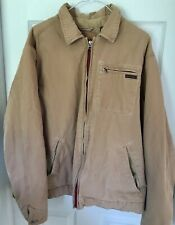 Vintage Retro Abercrombie & Fitch Fleece Lined Jacket Barn Coat Heavy Sz LARGE
