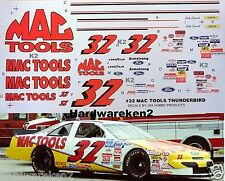 NASCAR DECAL #32 MAC TOOLS 1995 BGN FORD THUNDERBIRD DALE JARRETT