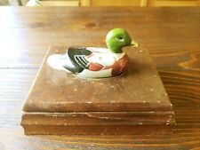Price Products Wood Card Box NO CARDS With Duck Topper Albert e. Price 1982