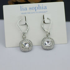 Lia Sophia Jewelry Bella Donna Silver Rhodium with Faceted Cut Crystal Earrings