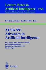 AI*IA 99:Advances in Artificial Intelligence: 6th Congress of the-ExLibrary