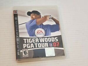 PS3 Tiger Woods PGA Tour 07 Video Game Disc Case Manual Pre -Owned Clean Tested