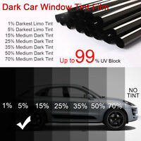 CAR WINDOW TINT FILM TINTING SUPER DARK BLACK LIMO 5% 75cm x 6M FOR VEHICLES PET
