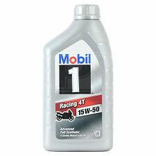 Mobil 1 Racing 4T 15W-50 Four-Stroke Motorcycle Engine Oil 15W50 1 Litre 1L NEW