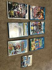 Wii U game console with games controllers cords tested and works USED