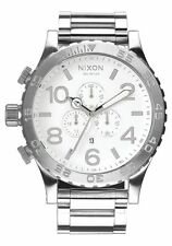 Authentic Nixon A083488 Chrono High Polish / White Men's 51-30 Watch. a083-488