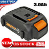 New WA3525 20 Volt 3.0Ah Replace for Worx 20V Lithium Battery Pack WA3520 WG151s
