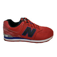 New Balance 574 Classic Running Shoe KL574WSG - Youth Size 5 - Red Blue Black