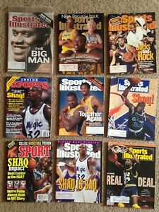 "9 Shaquille Shaq O""Neal Sports Illustrated Magazine Covers LSU, Orlando, Lakers"