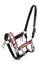 Showman Nylon/Leather Horse Halter w/ Multi Color Navajo Print Inlay! New Tack!