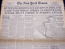 1940 MAY 15 NEW YORK TIMES - DUTCH END RESISTANCE EXCEPT IN ZEELAND - NT 200