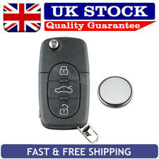 For Audi A2 A3 A4 A6 A8 TT 3 Button Flip Remote Key Fob Case + CR2032 Battery