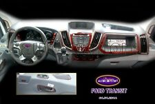 FORD TRANSIT Interior Dash Trim Kit 3M 3D 22-Parts Burl Wood 2014-UP