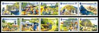 GUERNSEY 2002 HOLIDAYS ON SARK SET OF ALL 10 COMMEMORATIVE STAMPS MNH