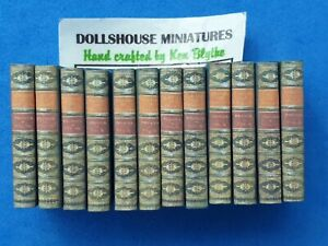 1:12 Scale Book , Proudes history of England 12 x volume  Crafted By Ken Blythe