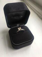 Tiffany & Co Platinum Princess Cut Diamond Engagement Ring 0.86 ct with box