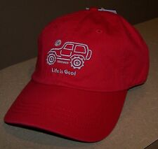 *RARE* Life is Good Mens NATIVE JEEP Off Road Hat Chill Cap RED Womens Unisex **
