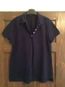 Ralph Lauren ladies polo t-shirt. Navy. Size XL. Used.