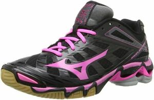 Mizuno Women's Wave Lightning RX3 Volleyball Shoes,Black/Pink,10.5 M US,NEW