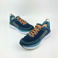 Men's Hoka One One Bondi 6 Running Shoes 1019269 Black/Blue - New With Box