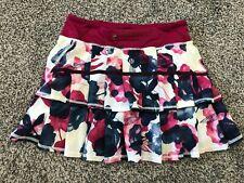 lululemon Run Pace Setter Skirt Sz 4 Ruffle Floral Print GORGEOUS!