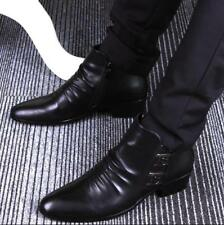 Mens Ankle Boots Side Boots Formal Business Dress Pointed Toe Side Zip Shoes T75